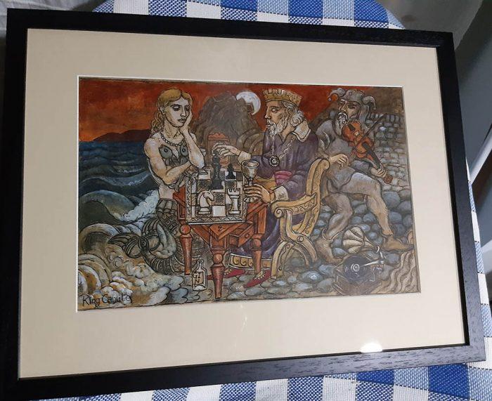 King Canute framed