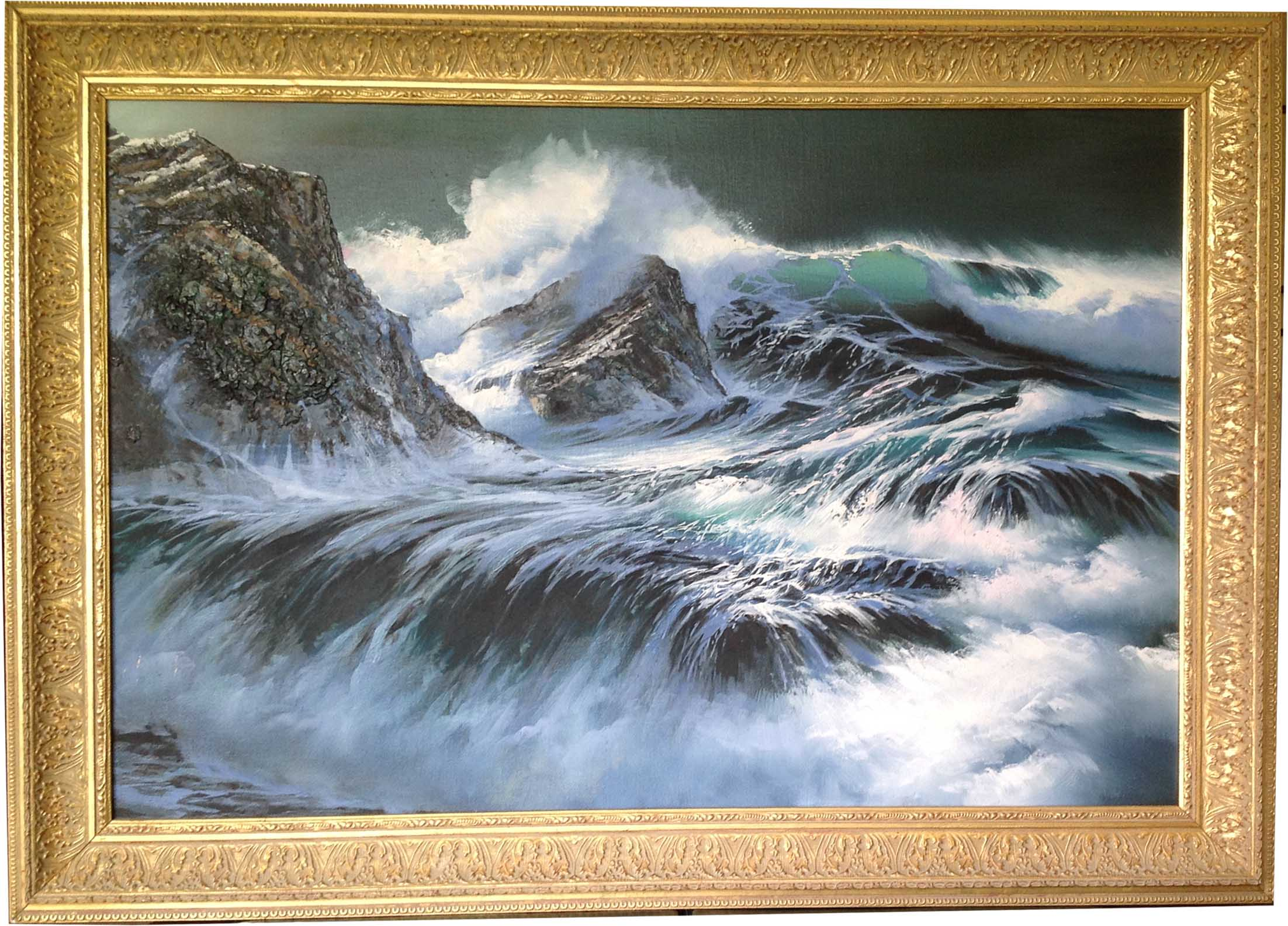 Seascape framed