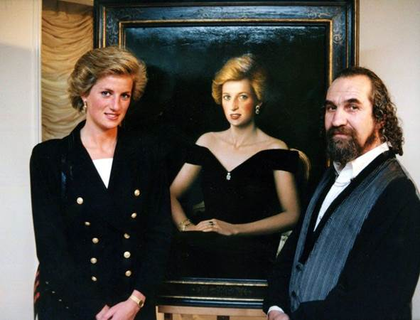 Diana, Princess of Wales with Zohar